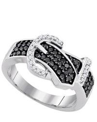 SEA Of Diamonds 051ctw Black Dia Ring