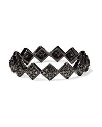 Ofira Tattoo 18 Karat Blackened White Gold Diamond Ring