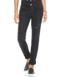 Black Ripped Boyfriend Jeans