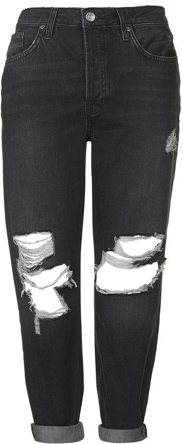 beauty discount shop order online Topshop Moto Black Ripped Hayden Jeans, $80 | Topshop | Lookastic.com