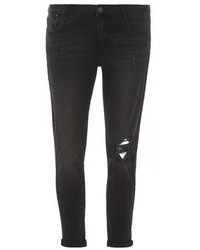 Dorothy Perkins Washed Black Rip Harper Jeans
