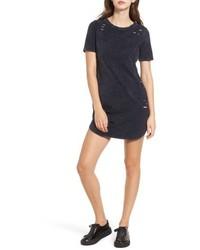 Love, Fire Distressed T Shirt Dress