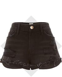 River Island Black Ruby Denim Shorts
