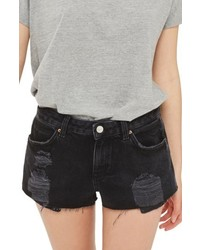 Cory ripped black denim shorts medium 5034746