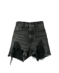 R13 Destroyed Denim Shorts
