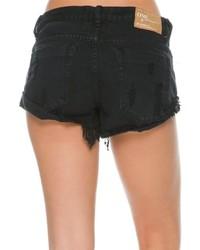 c8e6649949a0fd One Teaspoon Fox Black Bandits Denim Short, $108 | Swell | Lookastic.com