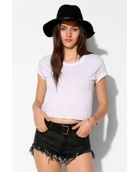 Glamorous Frayed Cutout Denim Short