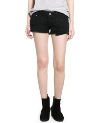 Mango Outlet Black Denim Shorts