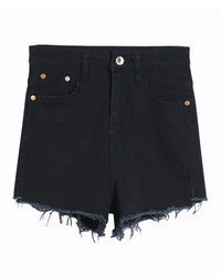 ChicNova Ripped High Rise Denim Shorts