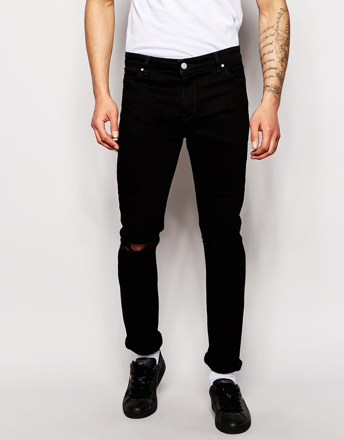 Asos Brand Skinny Jeans With Knee Rips | Where to buy & how to wear