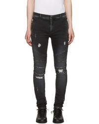 Black distressed slim jeans medium 1151379