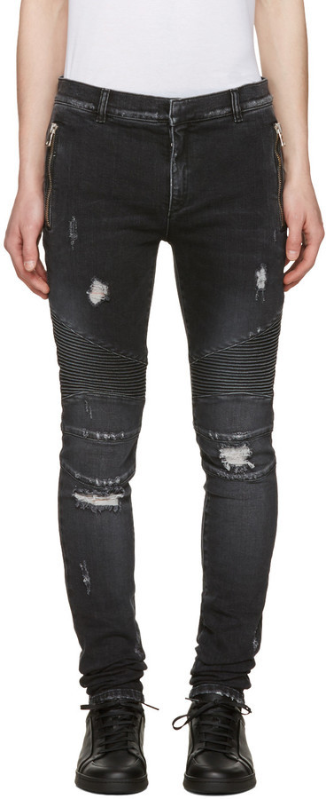 destroyed jeans - Black Balmain Cheap Sale Low Shipping Fee qmjqitY5p