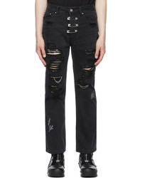 C2h4 Black My Own Private Planet Ruined Distressed Chaos Jeans