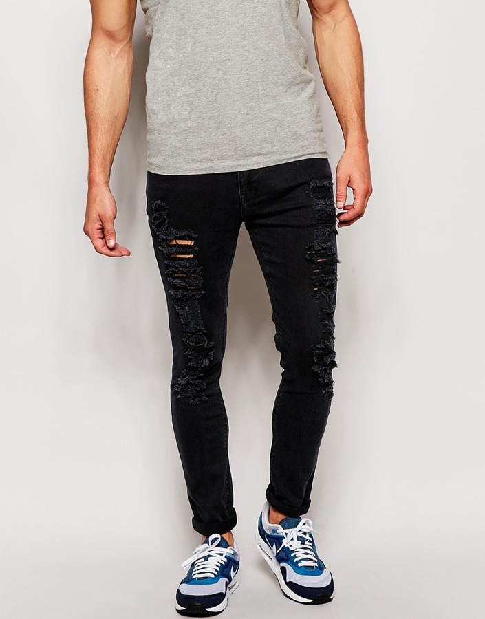 Asos Brand Super Skinny Jeans With Extreme Rips | Where To Buy