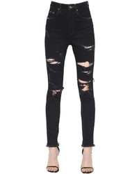 Destroyed stretch cotton denim jeans medium 3756996