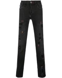 Philipp Plein Destroyed Super Straight Cut Jeans