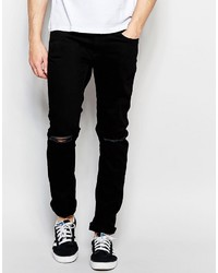 ... Jack and Jones Jack Jones Skinny Fit Jeans With Ripped Knees And Stretch 9ec1579037