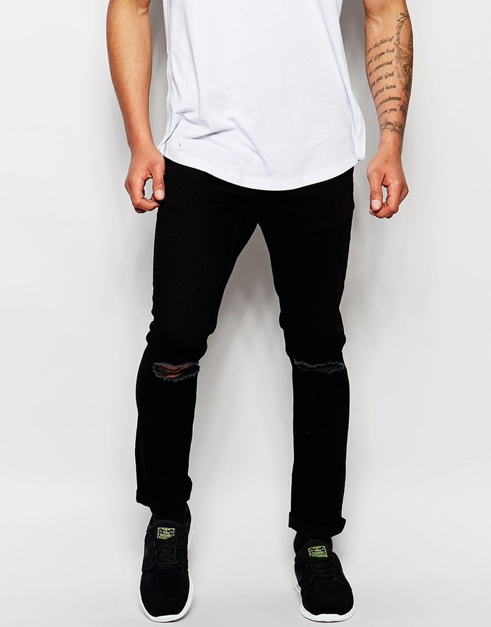 79fcec10259 ... Black Ripped Jeans Jack and Jones Jack Jones Skinny Jeans With Rips ...