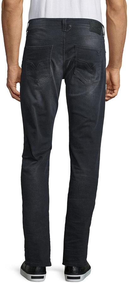 353d8713 Diesel Larkee 0854a Distressed Denim Jeans Black, $228 | Neiman Marcus |  Lookastic.com