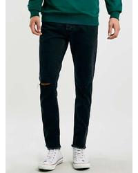 Topman Ltd Core Black Ripped Skinny Fit Jeans