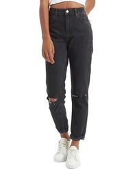 Topshop Moto Mom Washed Ripped Jeans