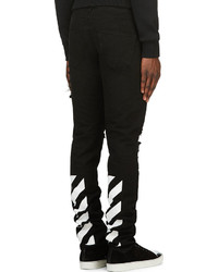 Off White Black Striped Bull Jeans | Where to buy & how to wear