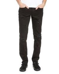 The Rail Shredded Slim Fit Jeans