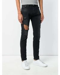 6aa19e7ad67cb9 Diesel Tepphar Distressed Jeans, $74 | farfetch.com | Lookastic.com