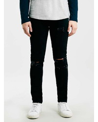Topman Black Ripped Skinny Fit Jeans