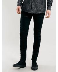 Topman Black Ripped Stretch Skinny Fit Jeans