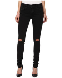 Mavi Jeans Adriana In Black Ripped Super