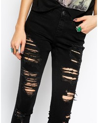 Asos Collection Lisbon Skinny Festival Mid Rise Ankle Grazer Jeans ...