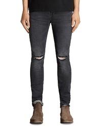 AllSaints Bannock Cigarette Skinny Fit Jeans In Black