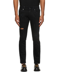 Dolce & Gabbana Black Distressed Skinny Jeans