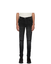 Amiri Black Distressed Stack Jeans