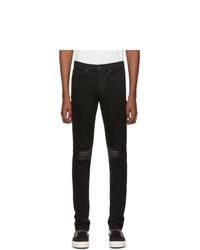 Rag and Bone Black Fit 1 Holes Jeans
