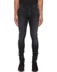 Amiri Black Flocked Track Jeans