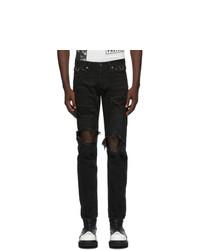 TAKAHIROMIYASHITA TheSoloist. Black Grunge Jeans