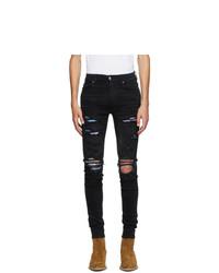 Amiri Black Hawaiian Patch Jeans