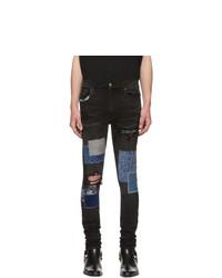 Amiri Black Japanese Repair Jeans