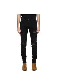 Amiri Black Mx1 Camo Jeans