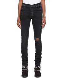 Amiri Black Playboy Edition Laser Jeans