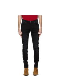 Amiri Black Slit Knee Jeans