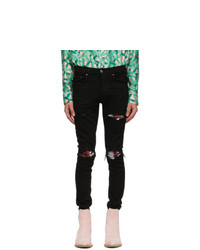 Amiri Black Watercolor Mx1 Jeans
