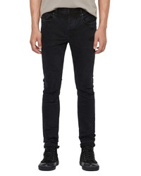 AllSaints Cigarette Ripped Repaired Straight Leg Jeans