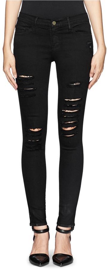 Frame Denim Le Skinny De Jeanne Rip Slim Fit Jeans   Where to buy ...
