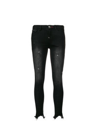 Philipp Plein Distressed Raw Edge Skinny Jeans