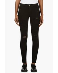 Frame Denim Black Le Color Ripped Jeans