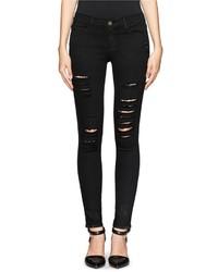 Frame Denim Le Skinny De Jeanne Rip Slim Fit Jeans
