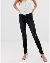 One Teaspoon Hoodlum Slit Knee Skinny Jeans